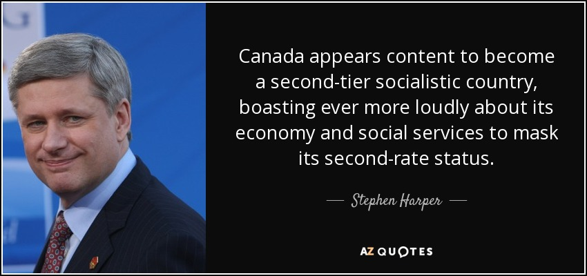 Stephen Harper Quote Canada Appears Content To Become A