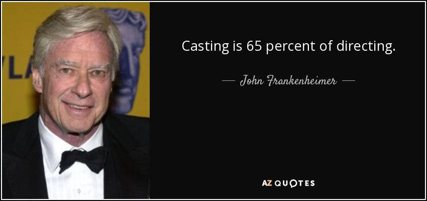 Casting is 65 percent of directing. - John Frankenheimer