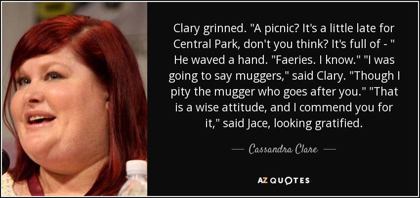 Clary grinned.