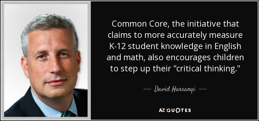 Common Core, the initiative that claims to more accurately measure K-12 student knowledge in English and math, also encourages children to step up their