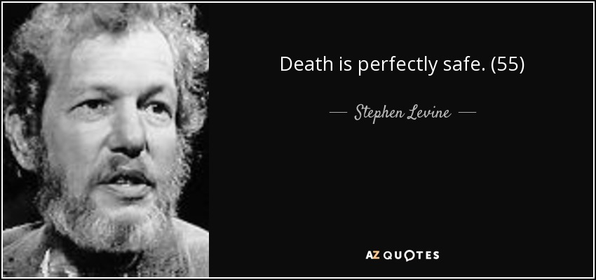 Death is perfectly safe. (55) - Stephen Levine