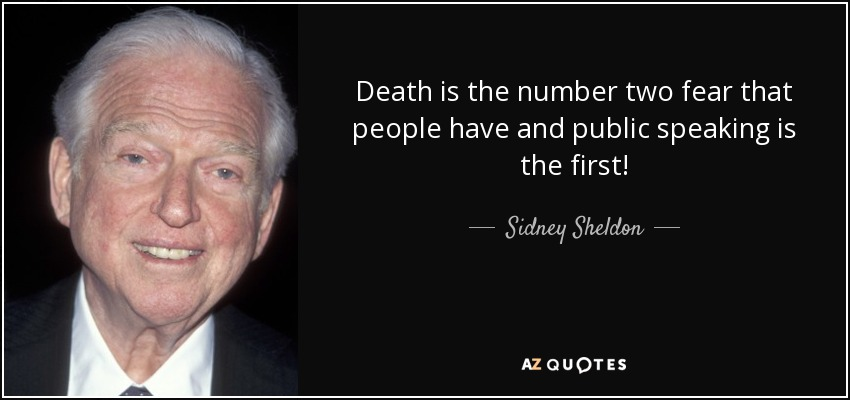 Quotes About Public Speaking Adorable Quotes About Public Speaking Delectable Sidney Sheldon Quote Death