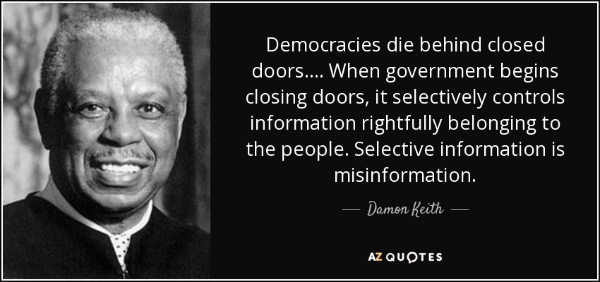 democracies die behind closed doors Harvard professors steve levitsky and daniel ziblatt examine the causes that  lead to breakdowns in democracies around the world.