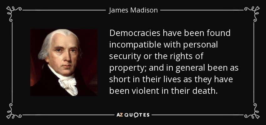 james madison essay on sovereignty Free essay: on june 8, 1789 one of the founding fathers of the united states of america, james madison proposed the bill of rights to the house of.