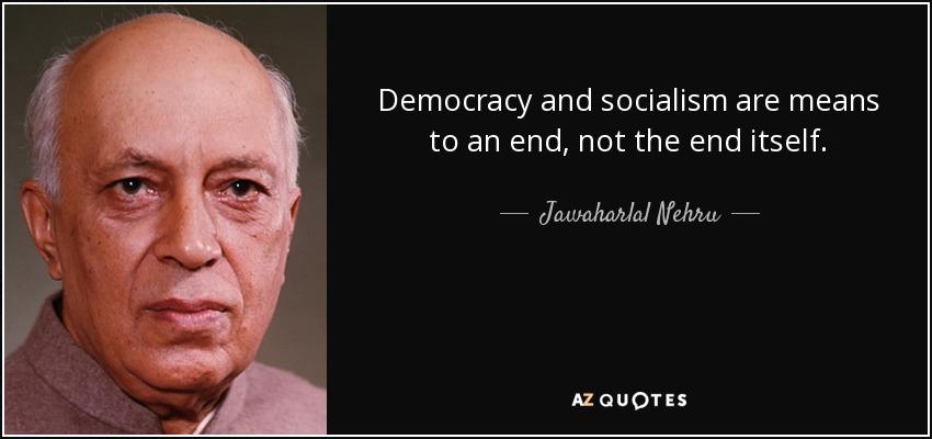Jawaharlal Nehru on democracy