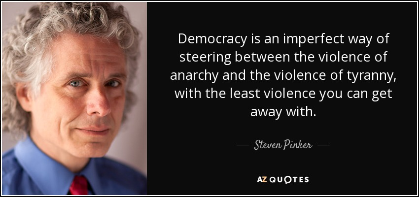 """steven pinker violence essay Review essay make money, not war steven pinker's the better angels pinker takes care to point out that """"there is no law of conservation of violence."""