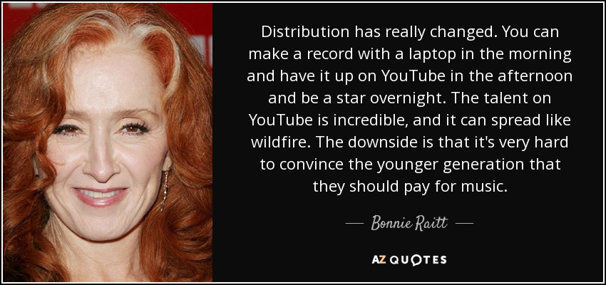 Bonnie Raitt quote: Distribution has really changed  You can