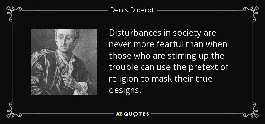 Disturbances In Society Are Never More Fearful Than When Those Who Are  Stirring Up The Trouble