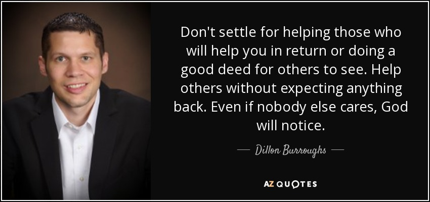 Essay on helping others is a good deed