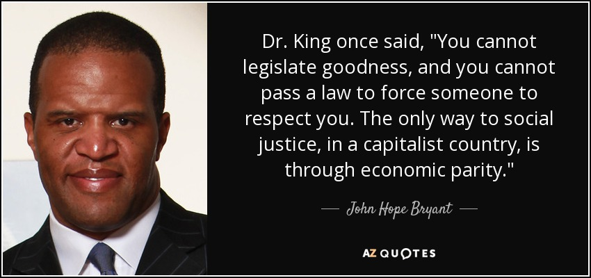 Dr. King once said,