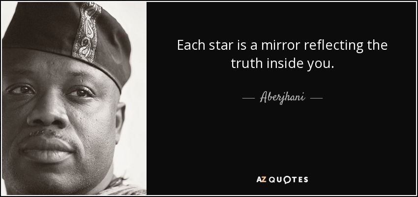 Each star is a mirror reflecting the truth inside you. - Aberjhani