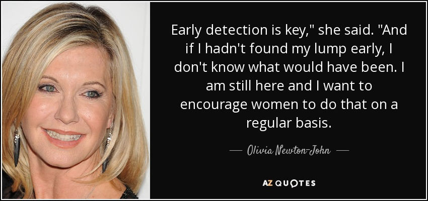Early detection is key,
