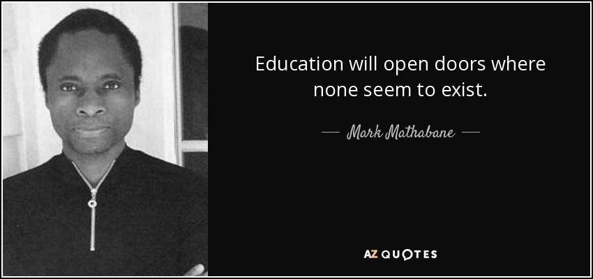 QUOTES BY MARK MATHABANE