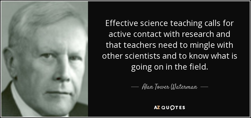 Effectively teaching science