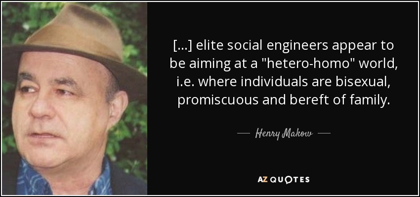 [...] elite social engineers appear to be aiming at a