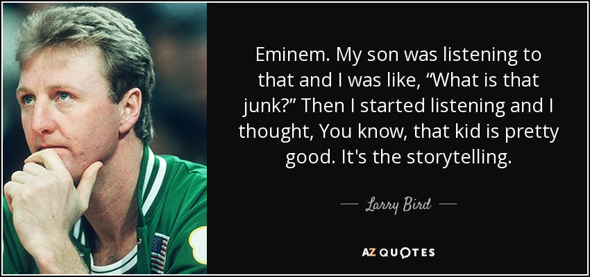 Image result for eminem and larry bird