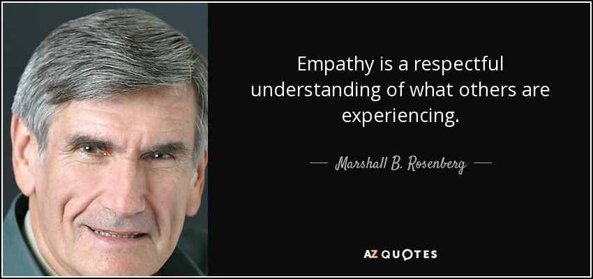 Empathy is a respectful understanding of what others are experiencing. - Marshall B. Rosenberg