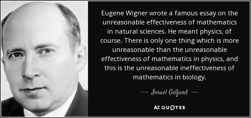 How To Write A Research Essay Thesis Eugene Wigner Wrote A Famous Essay On The Unreasonable Effectiveness Of  Mathematics In Natural Sciences Example Of Essay With Thesis Statement also Topics For Synthesis Essay Israel Gelfand Quote Eugene Wigner Wrote A Famous Essay On The  Reflection Paper Essay