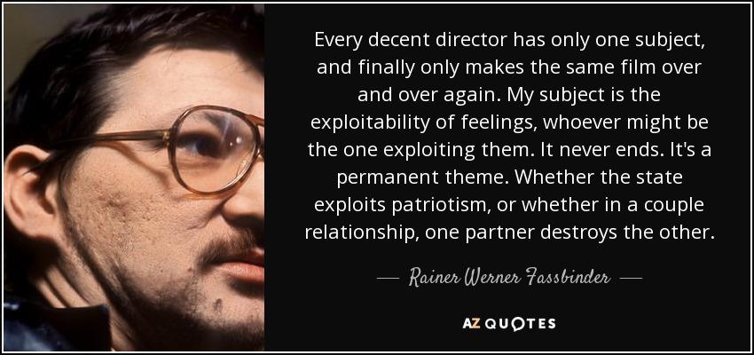 Rainer Werner Fassbinder awards