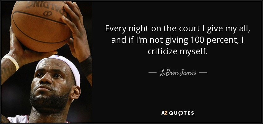 Lebron James Quote Every Night On The Court I Give My All And