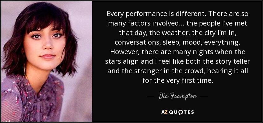 Dia Quote Stunning TOP 48 QUOTES BY DIA FRAMPTON AZ Quotes
