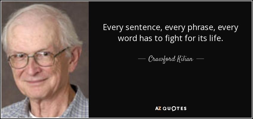 CRAWFORD KILLIAN, WRITING TEACHER