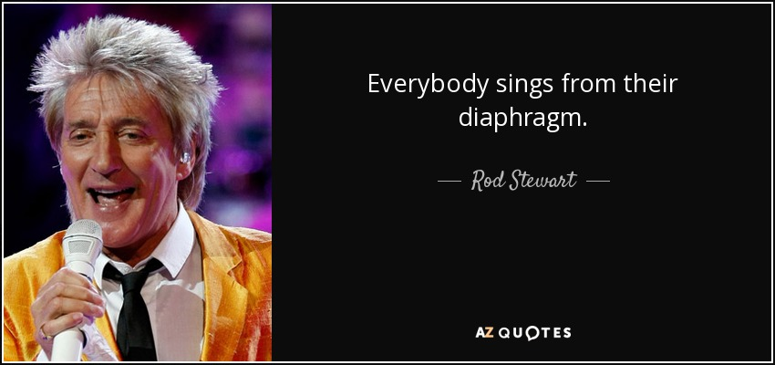 Everybody sings from their diaphragm. - Rod Stewart