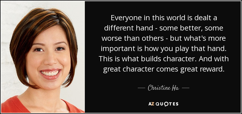 Quotes By Christine Ha A Z Quotes