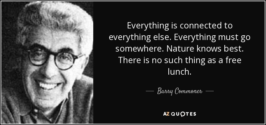 Barry Commoner Quote Everything Is Connected To Everything Else