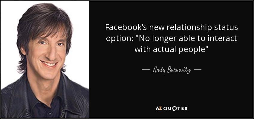 Facebook's new relationship status option: