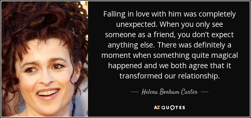 Helena Bonham Carter Quote Falling In Love With Him Was Completely