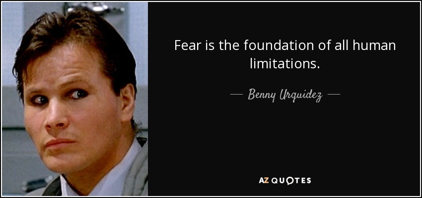 Fear is the foundation of all human limitations. - Benny Urquidez