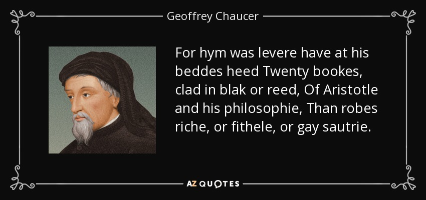 Chaucer and gay