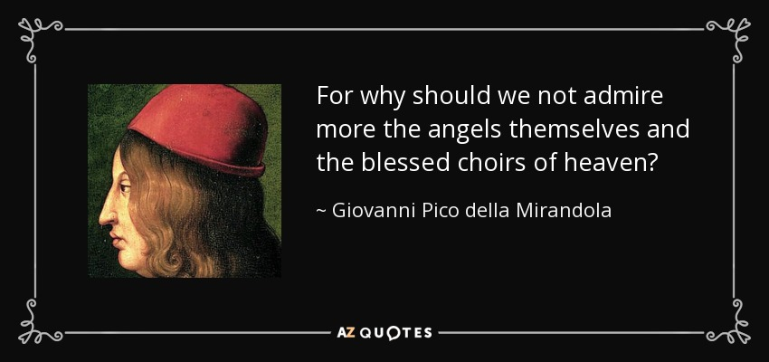 analysis of giovanni pico della mirandolas oration on the dignity of man essay Giovanni pico della mirandola (1463–94) oration on the dignity of man (1486) this is an edited version of the text paragraph numbering has.
