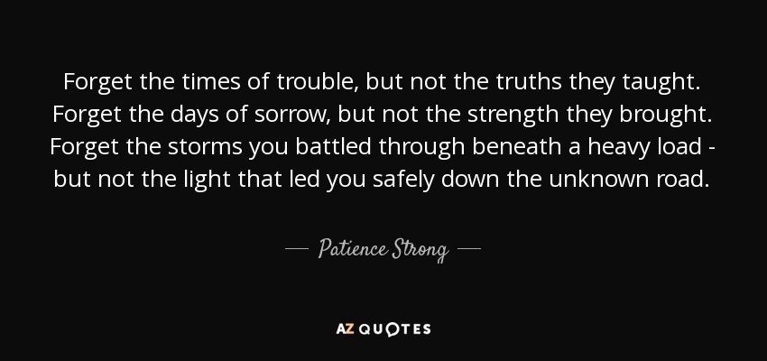 TOP 22 QUOTES BY PATIENCE STRONG | A-Z Quotes
