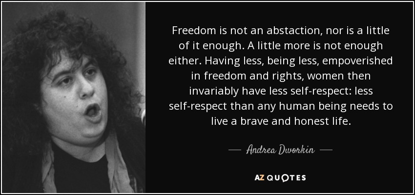 andrea dworkin censorship and pornography