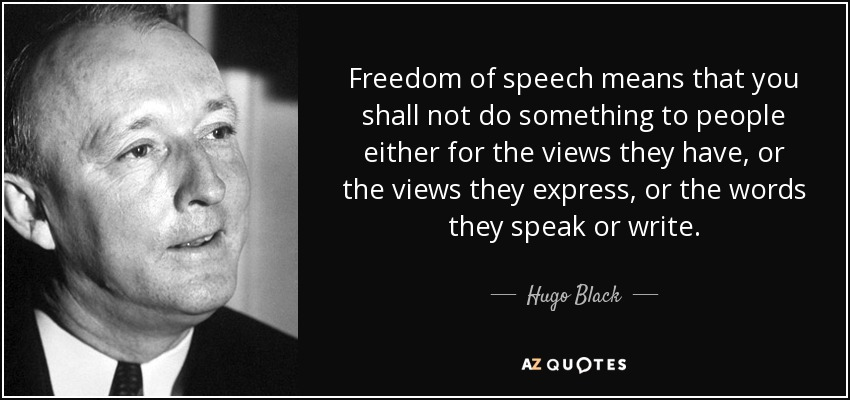 freedom of speech means the freedom Speech overview by rodney a smolla, contributing writer to find out when the first amendment protects your speech, check out this primer the first amendment to.