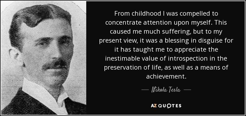 Hasil gambar untuk nikola tesla quotes from childhood