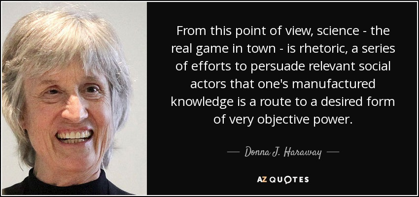 """an analysis of a cyborg manifesto by donna haraway Critical context essay analysis, presentations and application to the stories use  these outlines to  """"a cyborg manifesto"""" by donna j haraway points of view."""
