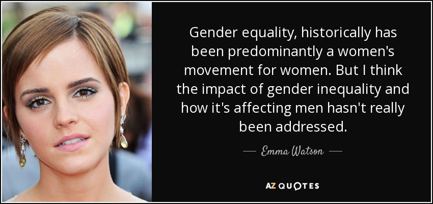 Gender Equality Quotes Stunning Top 18 Gender Inequality Quotes  Az Quotes