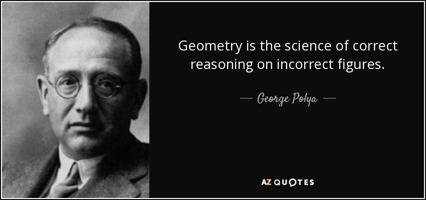 Geometry is the science of correct reasoning on incorrect figures. - George Polya
