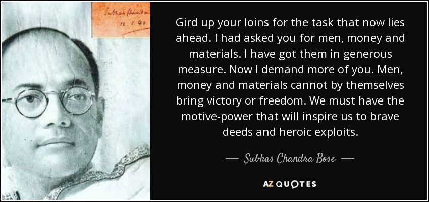 life and work of subhas chandra (biography) the title for (subhash chandra) bose  badrul hasan's younger  brother, abid hussain safrani, stayed on in germany to work with subhas  chandra.