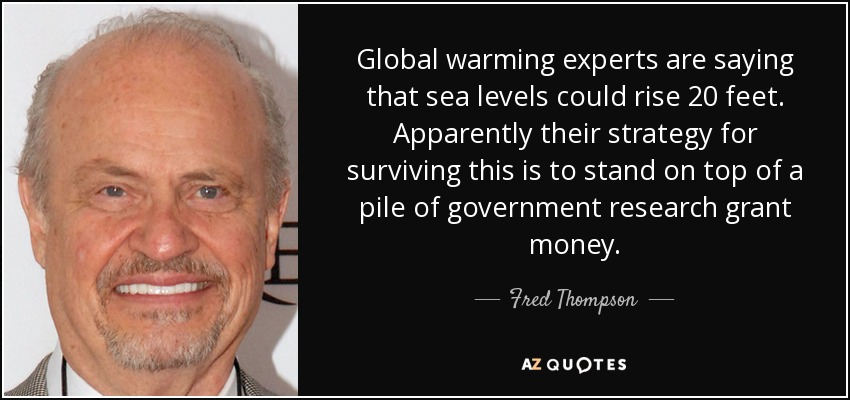 For global warming experts?