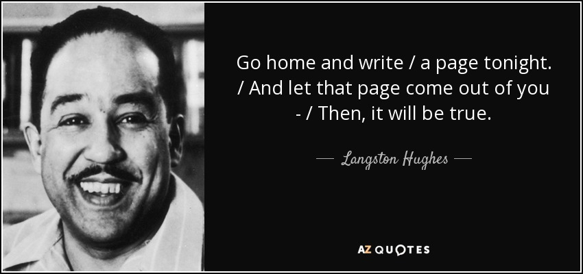 the vision of an equal america by langston hughes Start studying poetry flashcards for final test learn he was very patriotic to america and supported which two langston hughes poems portray a future.