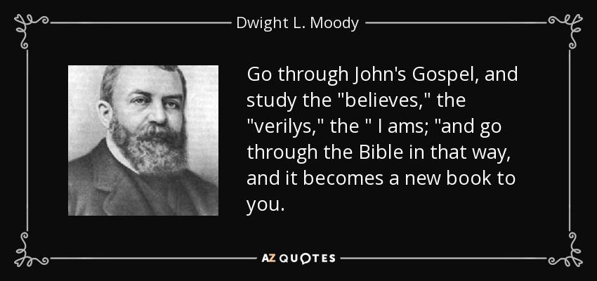 Go through John's Gospel, and study the