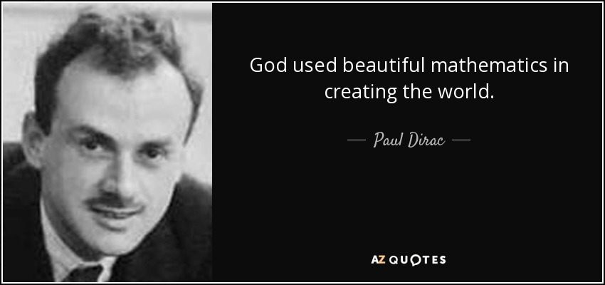 Beauty Of Math Quotes Sayings Postcard: 40 QUOTES FROM PAUL DIRAC