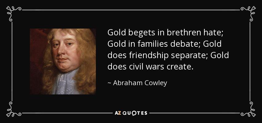 Abraham Cowley civil war