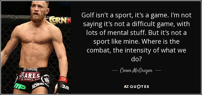 golf is not a sport reddit