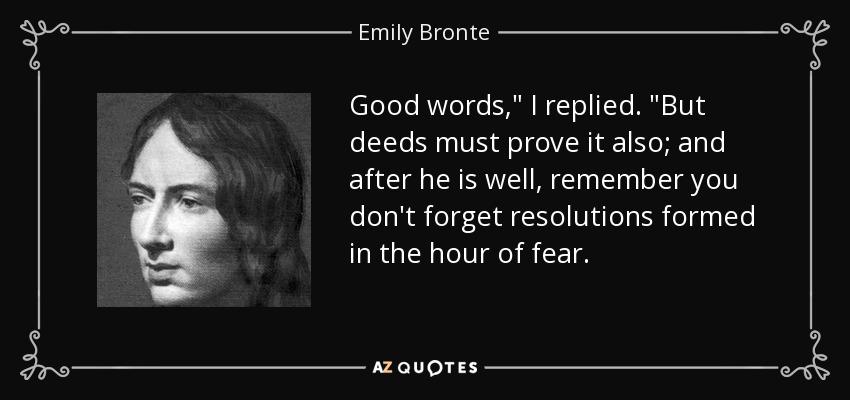 Good words,