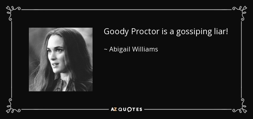 sympathy for abigail williams Everything you ever wanted to know about abigail williams in the crucible, written by masters of this stuff just for you.